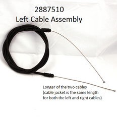 2887510 CABLE ASSY-LEFT (5') BAGGED