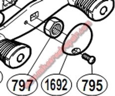 RD0021 NEW SHIMANO SPINNING REEL PART Line Roller Screw
