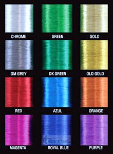 Chrome Metallic Thread size D, 100yds