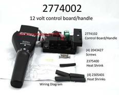2774002 CONTROL BRD/HANDLE ASSY,MAX/HC, 12V