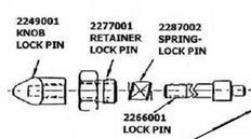 Cannon 2287002 HDW SPRING RELEASE PIN