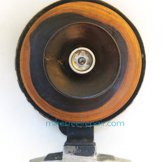OLD ENGLISH WOOD AND BRASS REEL - FRONT