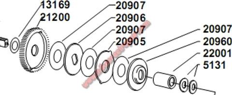 20905 KEYED DRAG WASHER