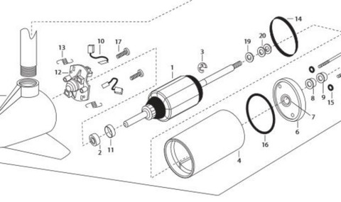 """Minn Kota 3 5/8"""" Motor Rebuild Kit"""