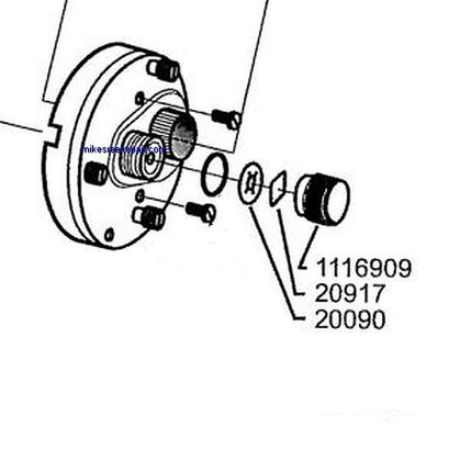 1116909 KIT - Abu Spool Cap Kit - 3pcs on