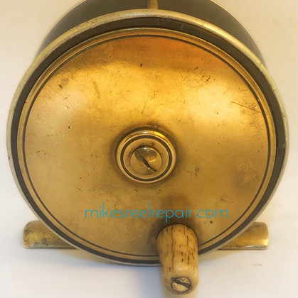 OLD BRASS & ALUMINUM FLY REEL