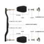 Carbon Fiber Swept Handle, Aluminum Knobs for Shimano Baitcasters, Exploded view Reference only