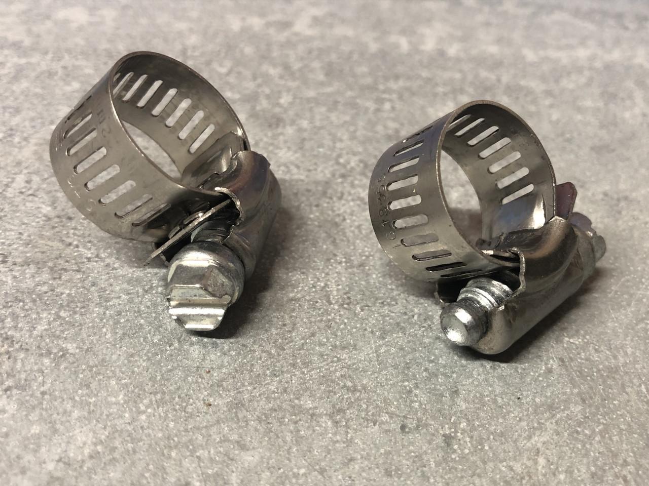"""3/8"""" hose clamp, pair"""