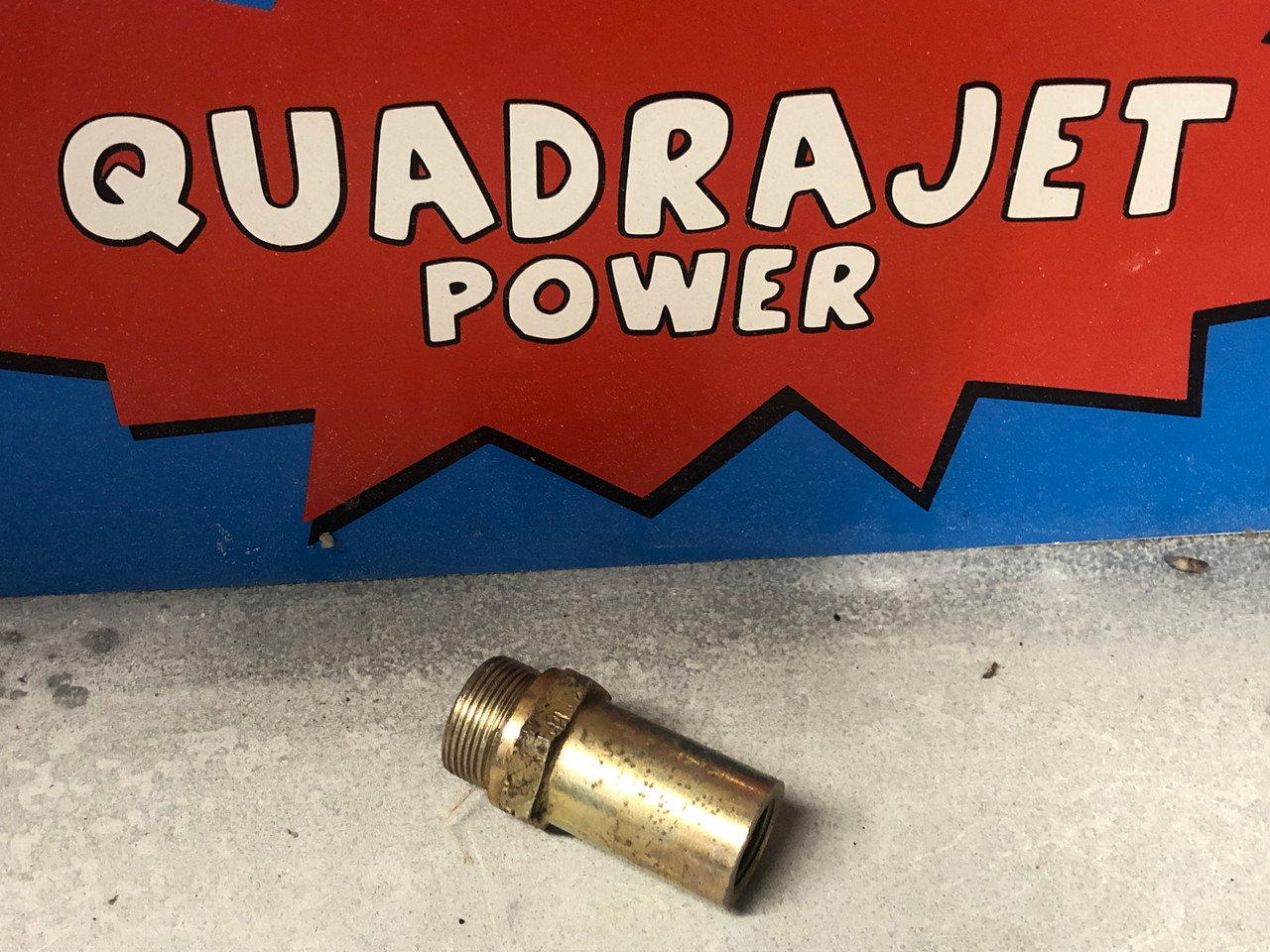 """Fuel filter Housing, early style long 7/8"""" threads, Used"""