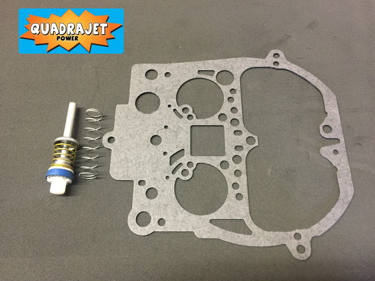 Accelerator pump assembly, with air horn gasket