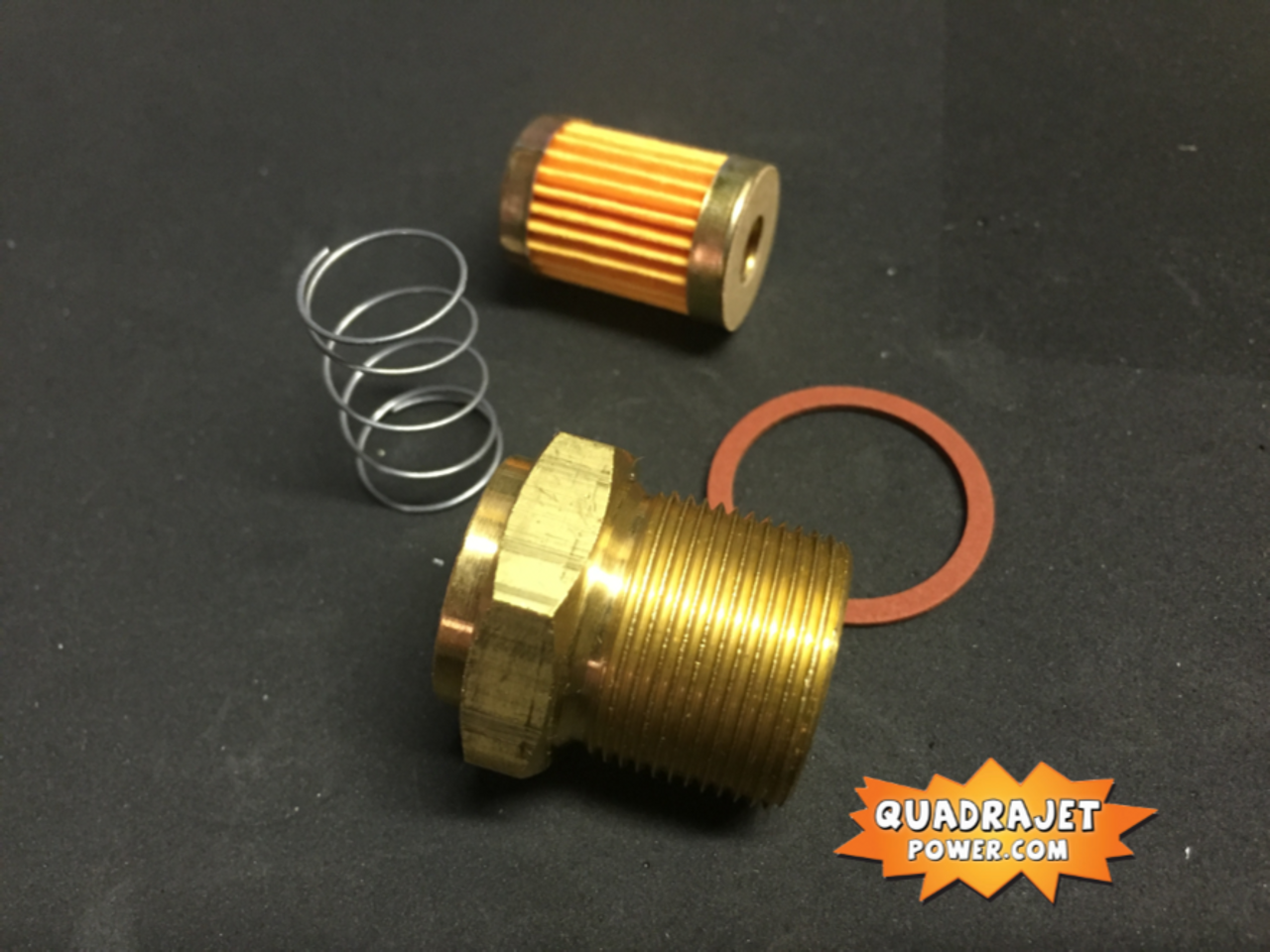 """Fuel filter Housing kit, new long thread 7/8"""" housing, filter, gasket, and spring, All New"""