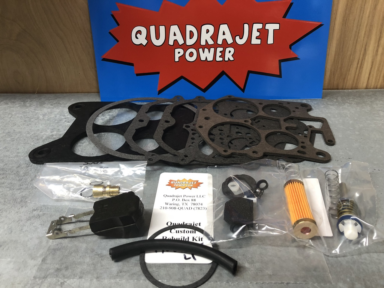 Quadrajet custom rebuild kit