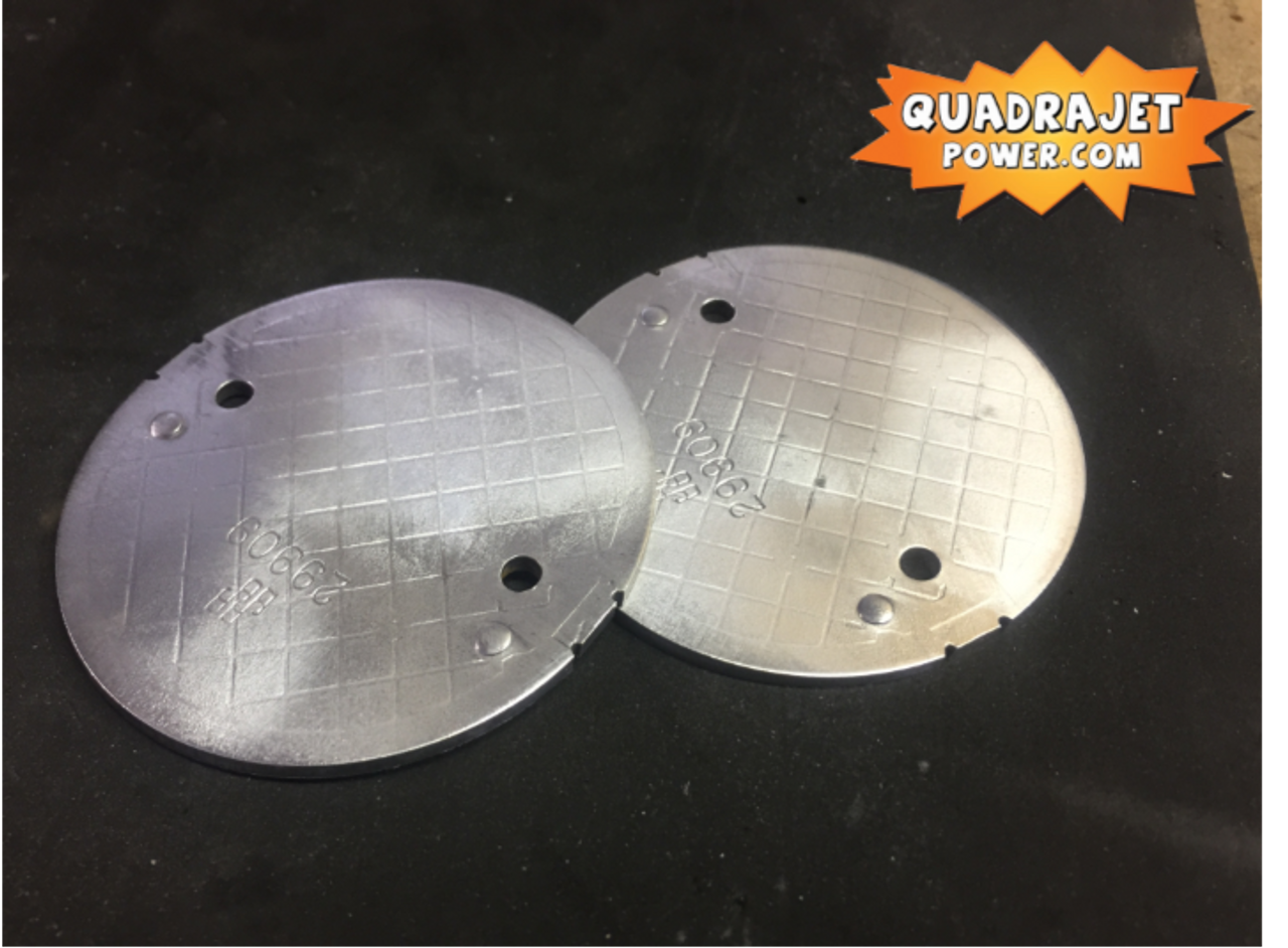 Secondary throttle blades pair, used