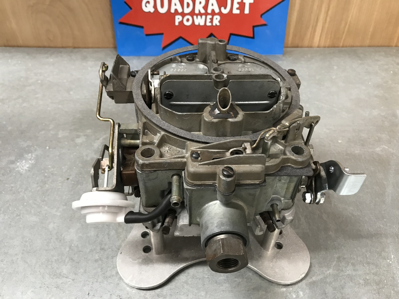 Quadrajet carb hook up