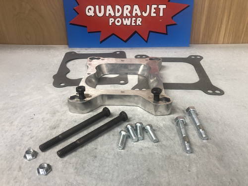 Quadrajet mount adapter, to square bore manifold