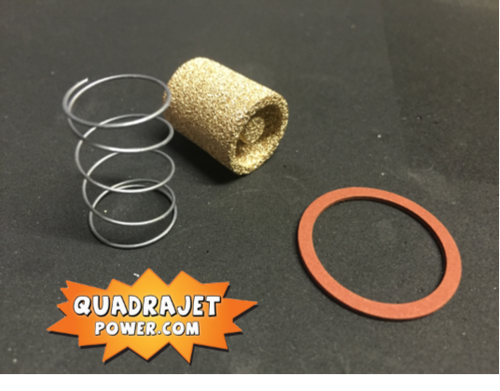Fuel filter kit, Bronze. Filter, early inlet gasket, spring