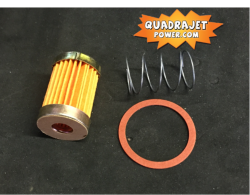 Fuel filter kit, short. Filter, early inlet gasket, spring