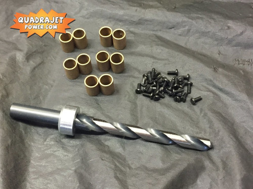 Primary shaft bushing kit, drill bit, bronze bushings, screws