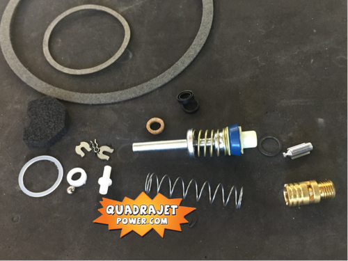 Quadrajet Rebuild Kit. Buick 75-80, Chevrolet 76-80, Chevy GMC 76-87, Dodge 78-81