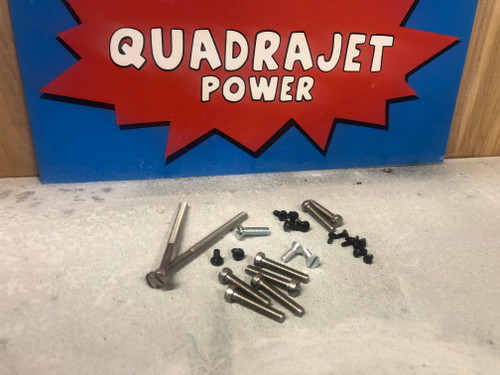 Screw kit, Early Quadrajet