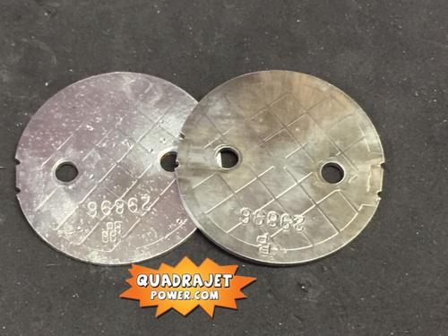 Primary throttle blades pair, used
