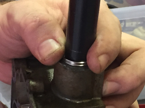Heli Coil thread repair of fuel inlet
