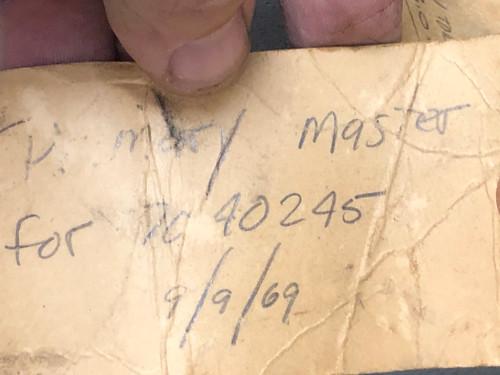 Buick 1969 350 4 speed 7029245 Engineering Master