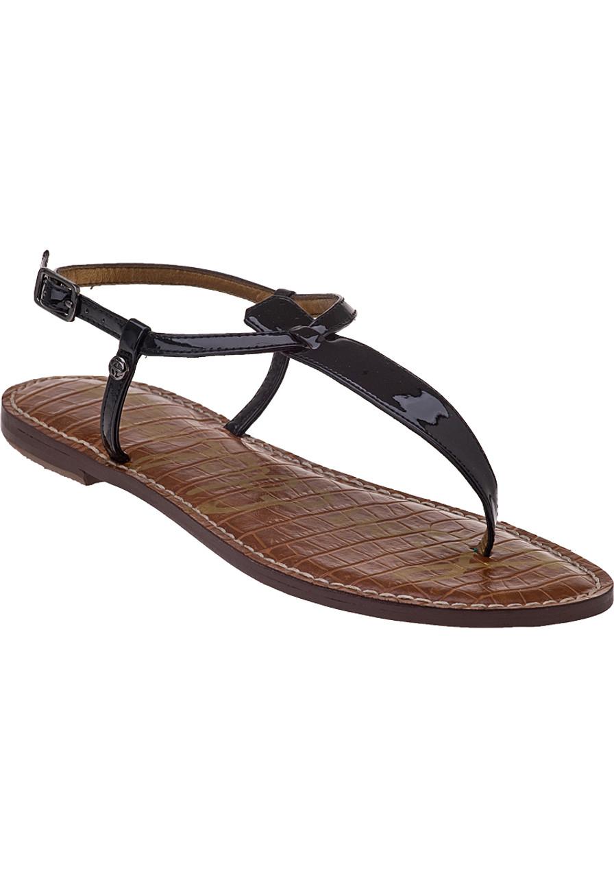 379839d8d3f9 Gigi Sandal Black Patent Leather - Jildor Shoes