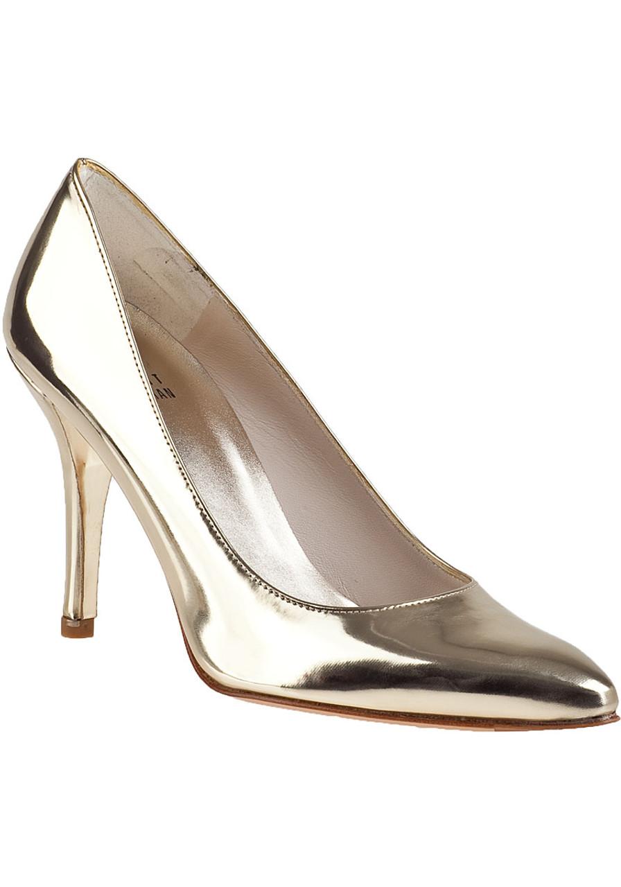 d6957fc7281 Power Pump Pale Gold Leather - Jildor Shoes