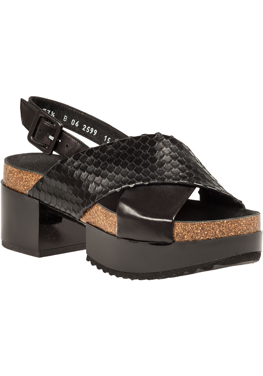 f9ad4dd73570 Tessa Platform Sandal Black Leather - Jildor Shoes