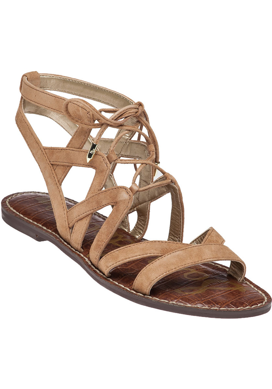 0894ff099921 Gemma Sandal Golden Camel Suede - Jildor Shoes