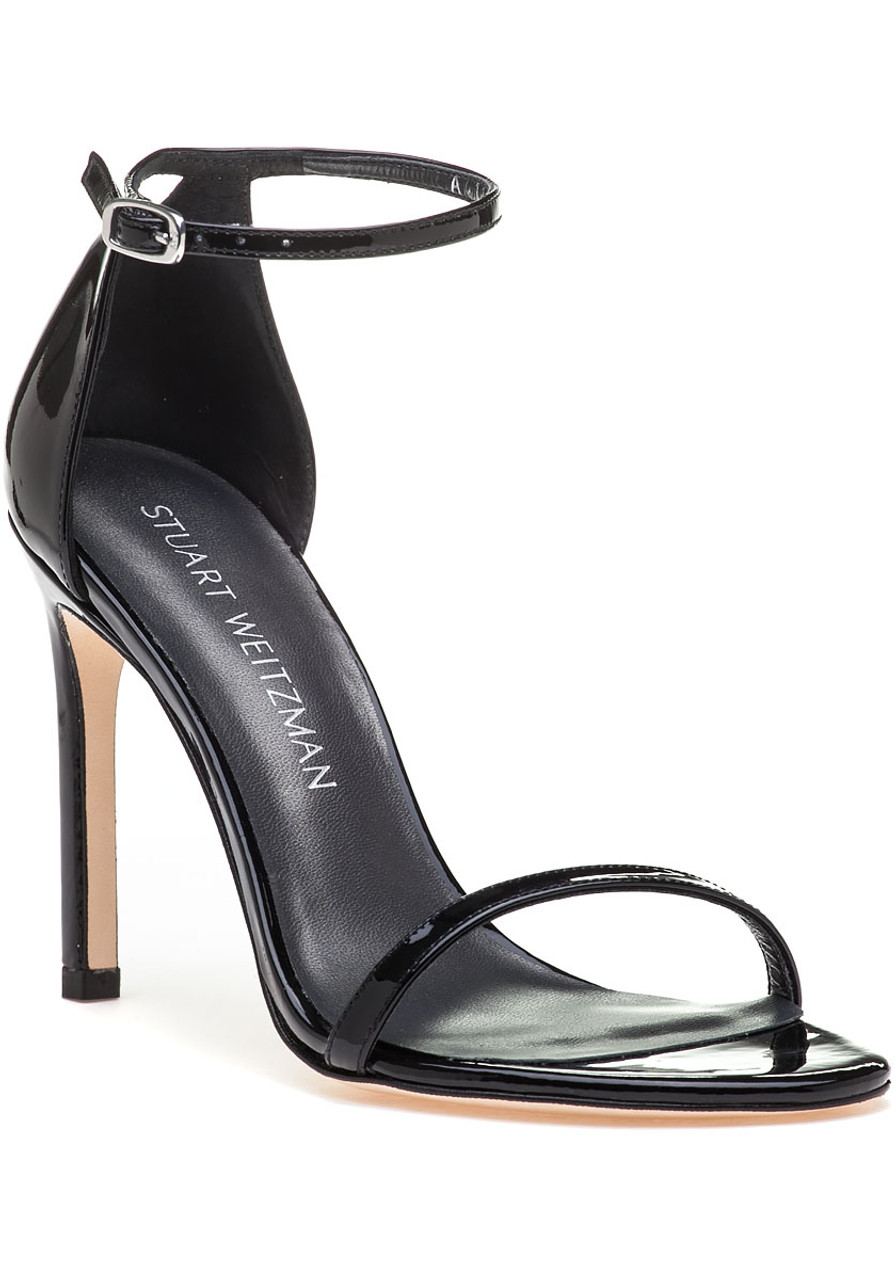 Patent Nudistsong Nudistsong Sandal Black Black Leather Patent D2IWEYH9