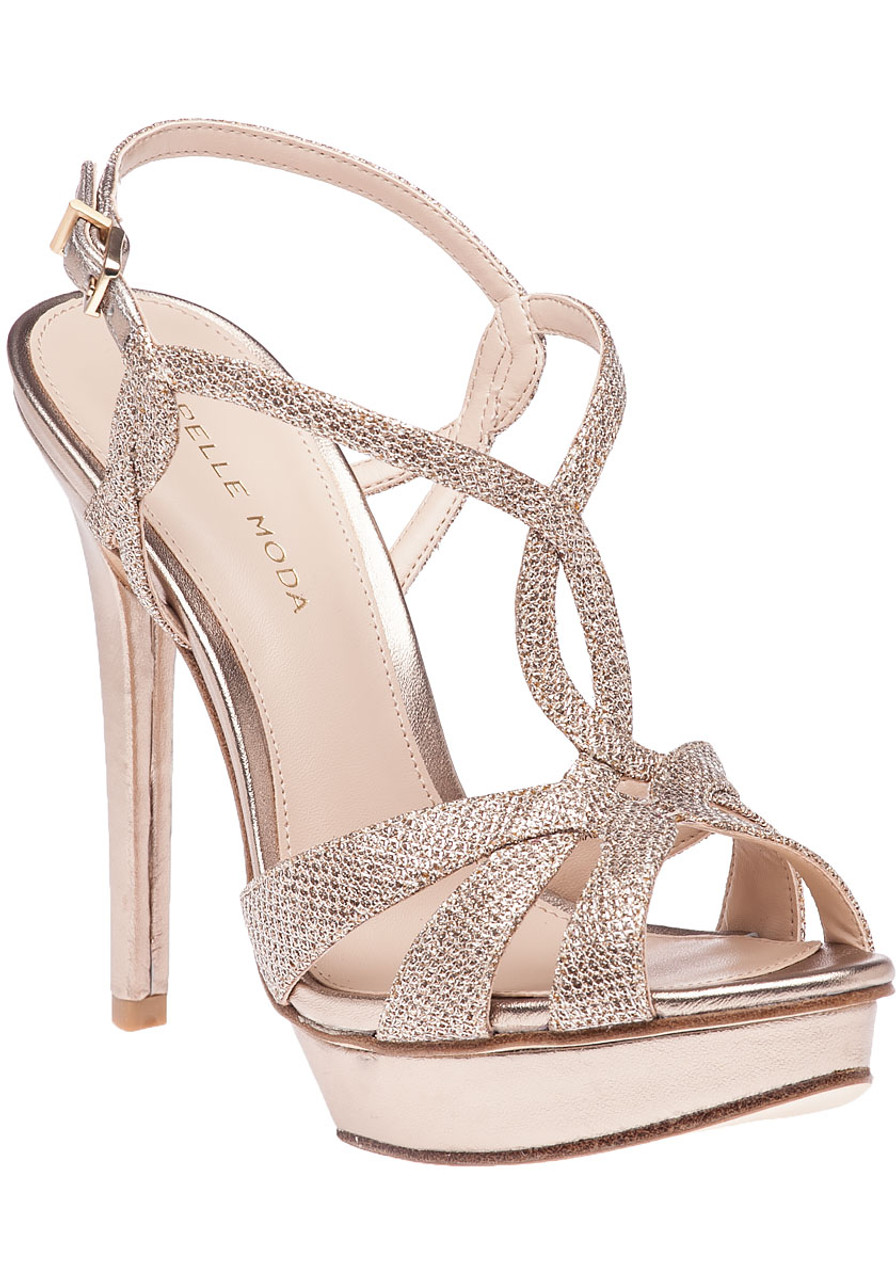 cfa6a0375b61 Farrell Platinum Gold Evening Sandal - Jildor Shoes