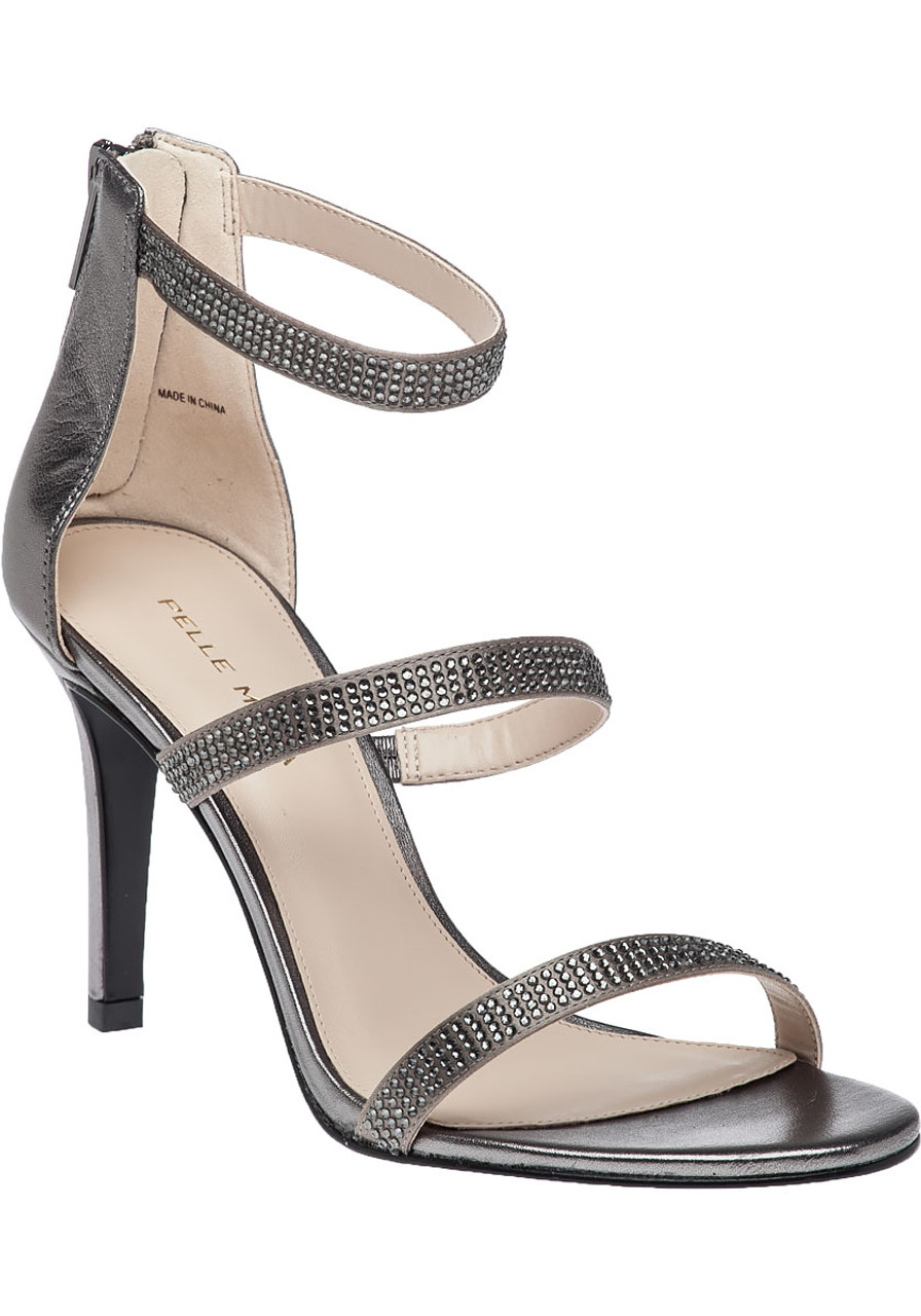 Dalia 2 Pewter Leather Evening Sandal QdBtsxohCr