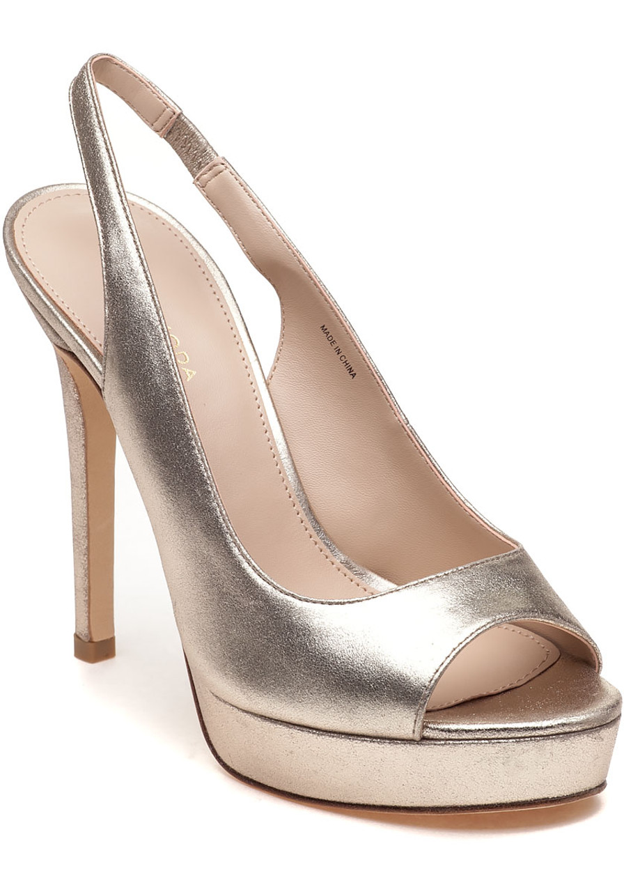 ffd1acf4ac8b Oana Slingback Platform Sandal Gold Leather - Jildor Shoes