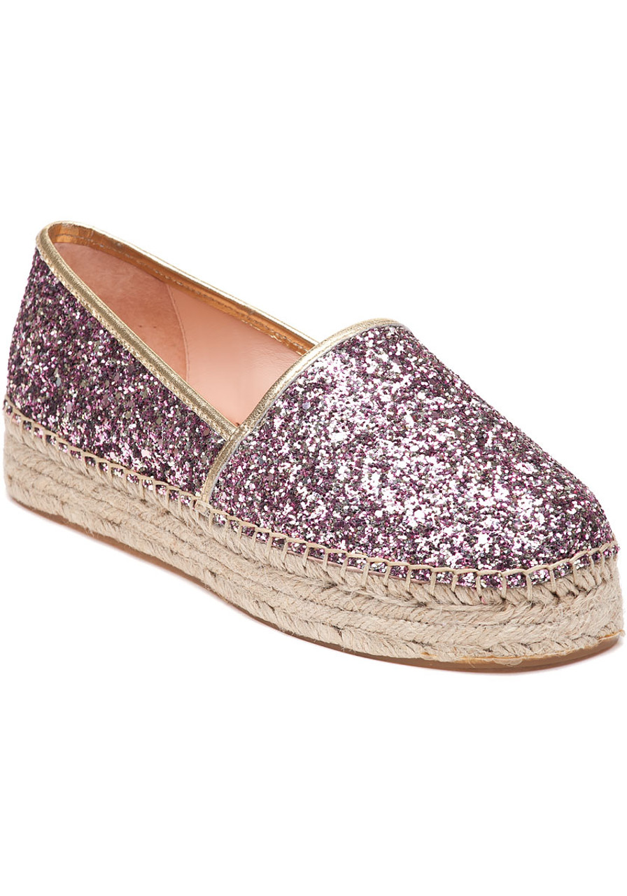0aabdffdb4ff Linds Too Rose Gold Glitter Espadrille - Jildor Shoes