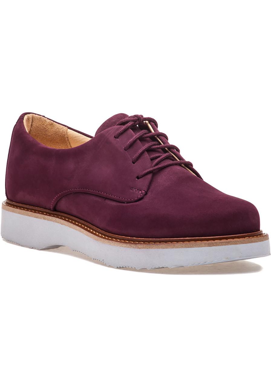 a91b14fc7c Women's Free Plum Suede Oxford - Jildor Shoes