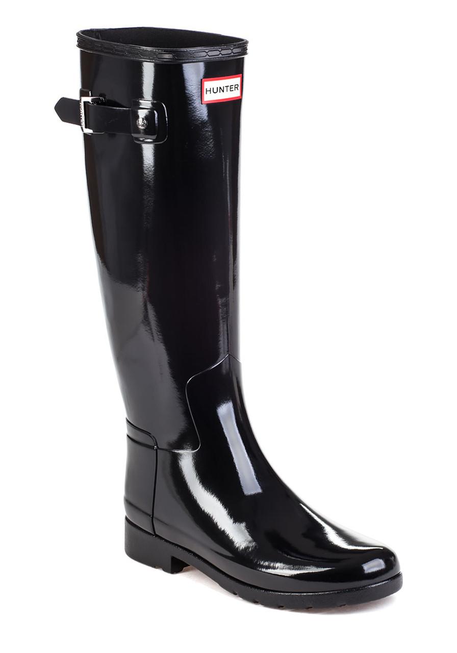 Original Refined Gloss Black Rubber Rain Boot