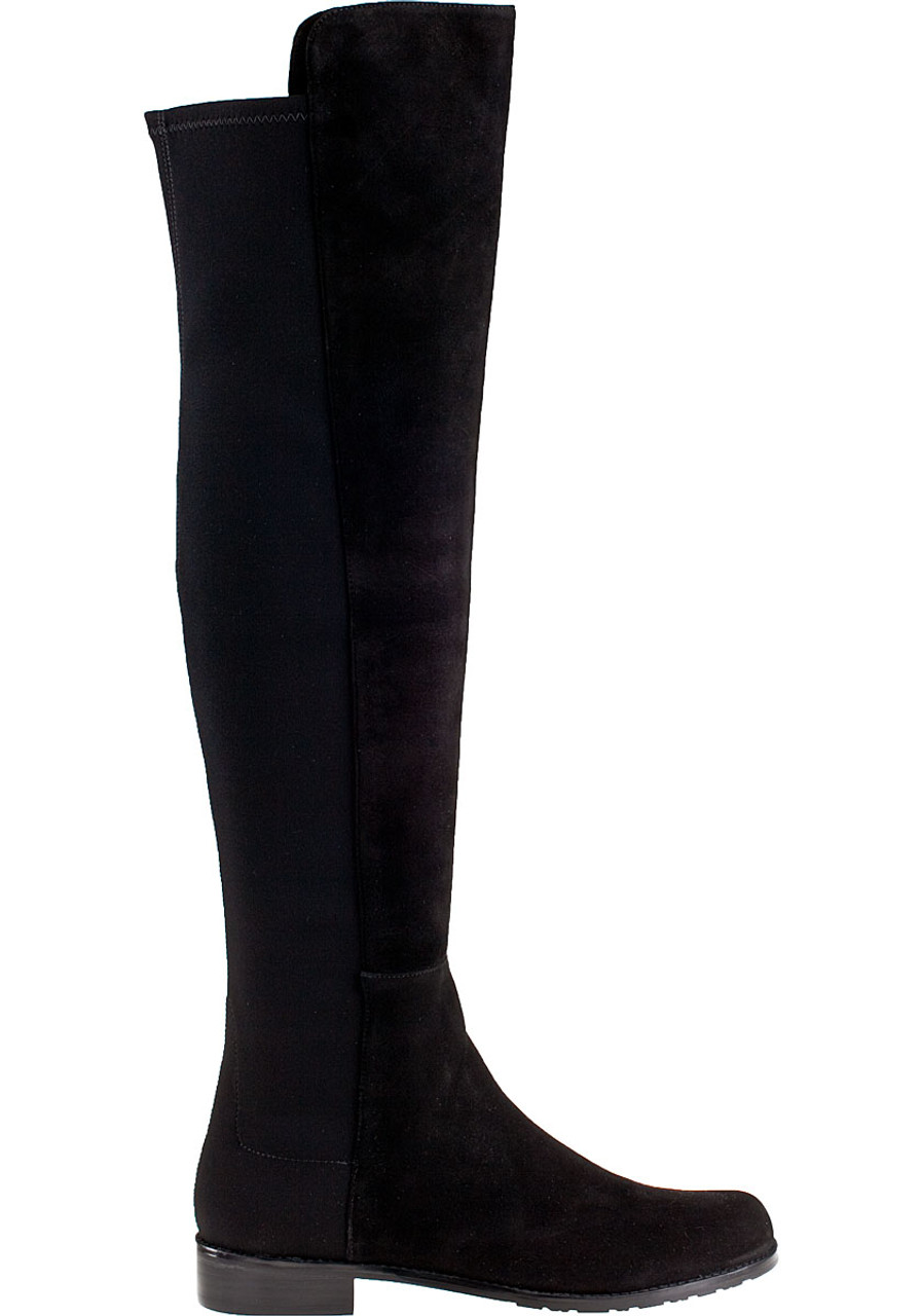 c447c4ccfbc 5050 Over-the-Knee Boot Black Suede - Jildor Shoes