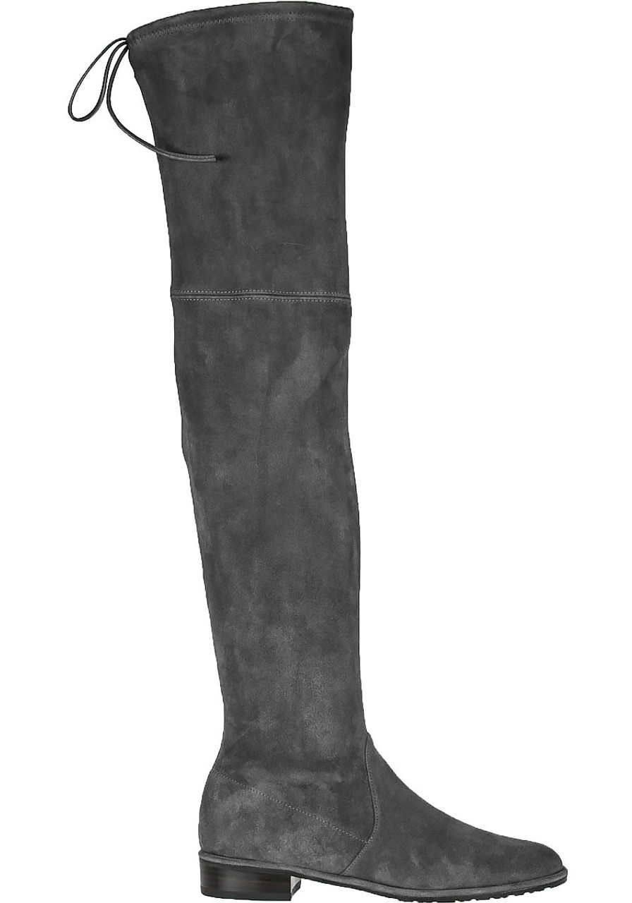 0a300797d78 Lowland Over-the-Knee Boot Grey Suede - Jildor Shoes