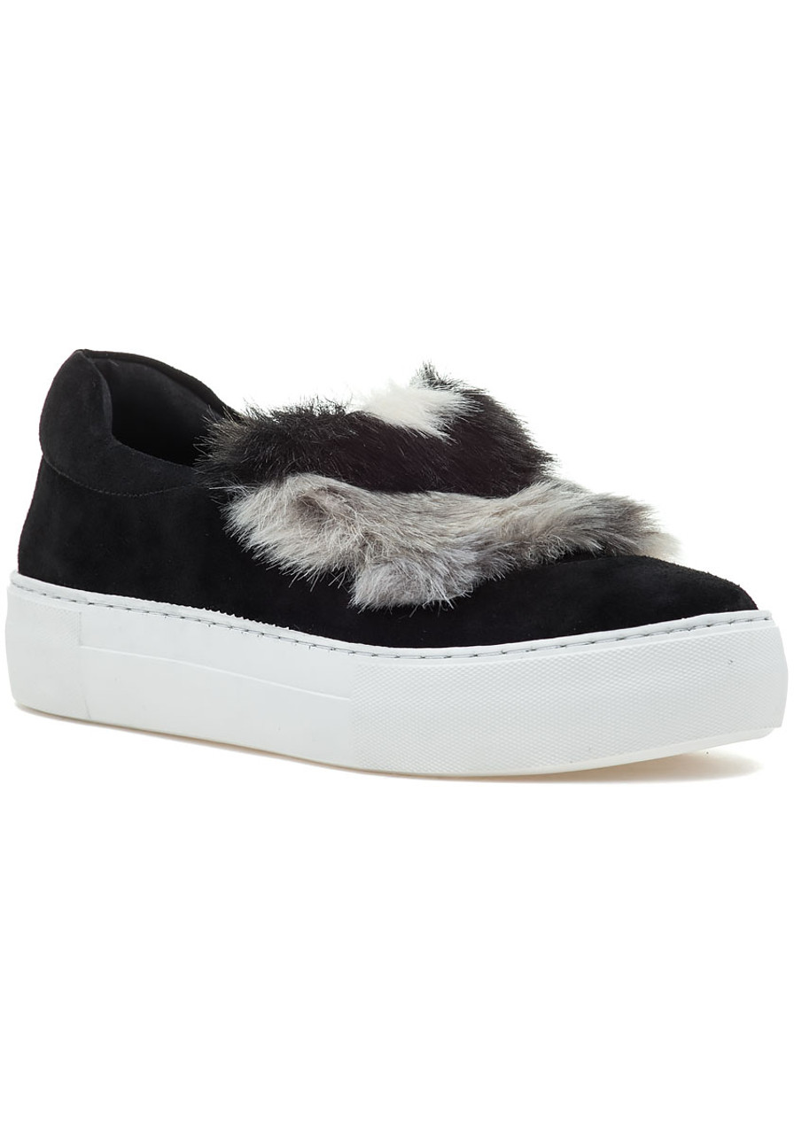 8e3734890650 Alexi Slip On Sneaker Black Suede - Jildor Shoes
