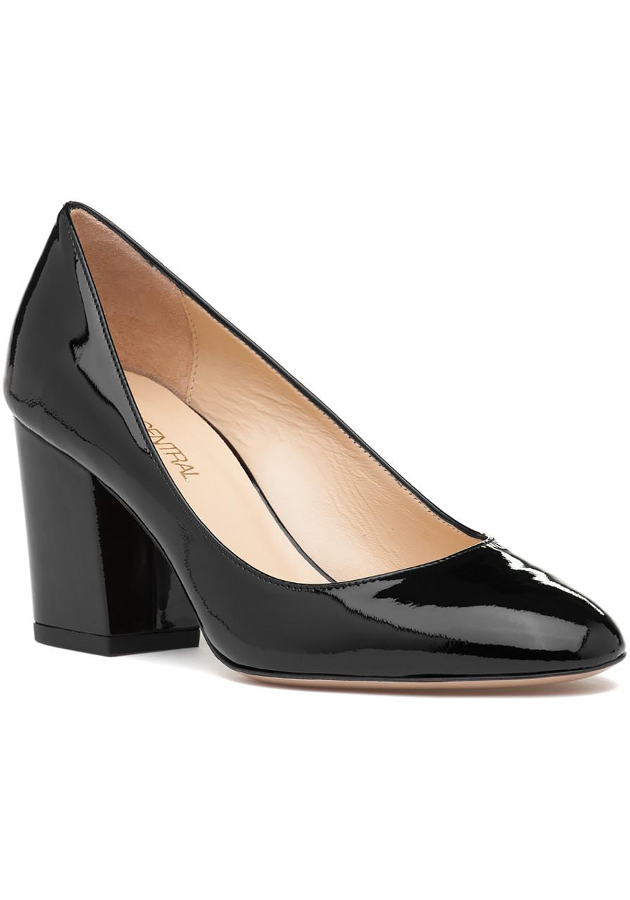 ade3b62f371b Quaglia Pump Black Patent - Jildor Shoes