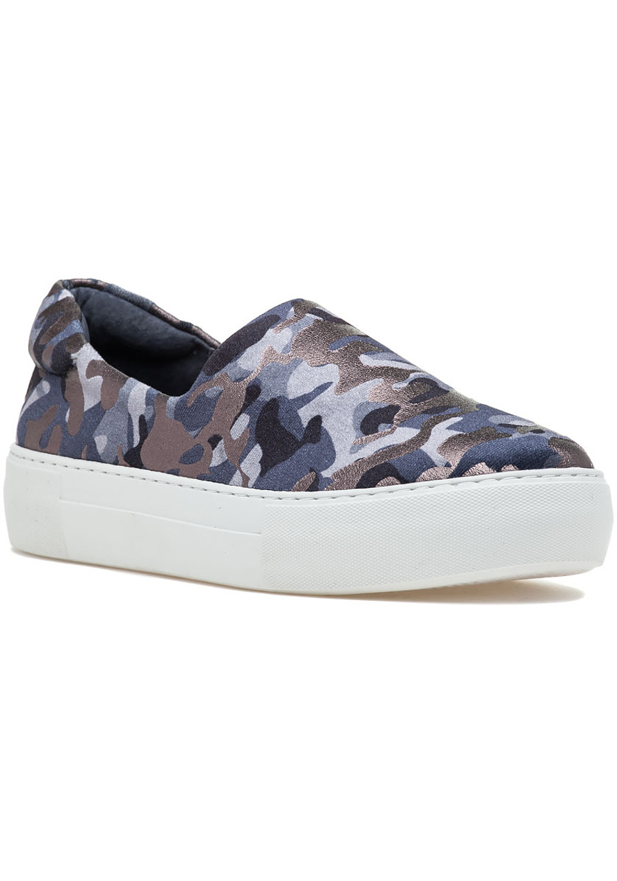 2f901053f0f01 Ariana Slip On Sneaker Grey Camo Fabric - Jildor Shoes