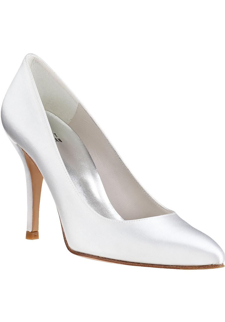 73b6f8bd464 Power Pump White Satin - Jildor Shoes