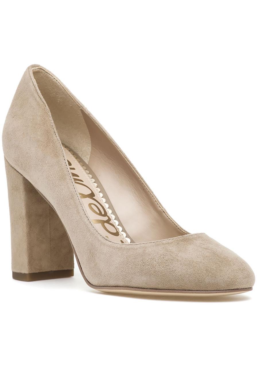 96fab98f84c9 Stillson Pump Oatmeal Suede - Jildor Shoes