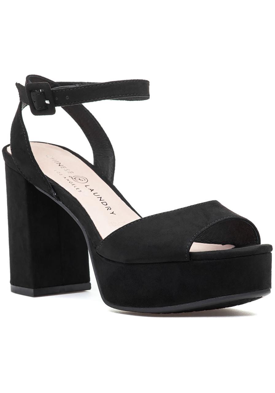 42ee9c2f34f Theresa Sandal Black Microsuede - Jildor Shoes