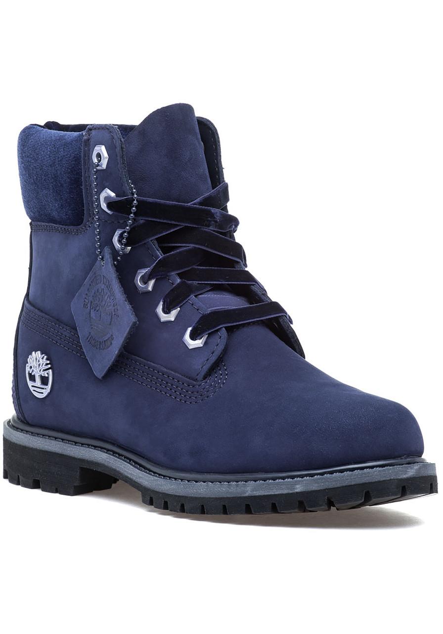 Premium 6 Inch Boot Navy Nubuck