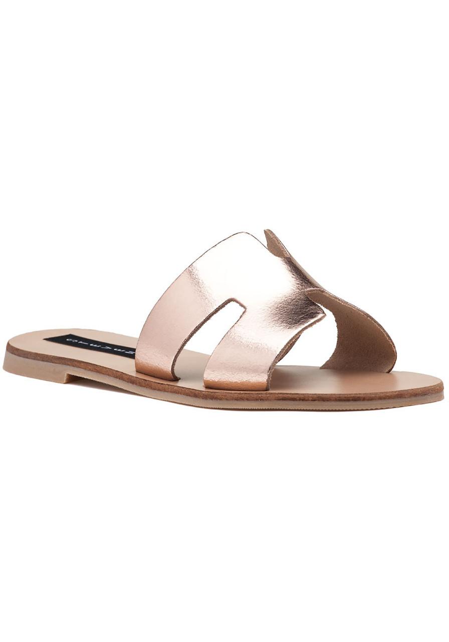 a09ed3c30f3 Greece Sandal Rose Gold Leather - Jildor Shoes