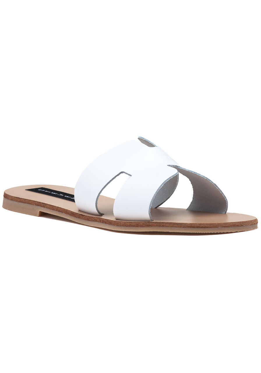 6ab76241e05 Greece Sandal White Leather - Jildor Shoes