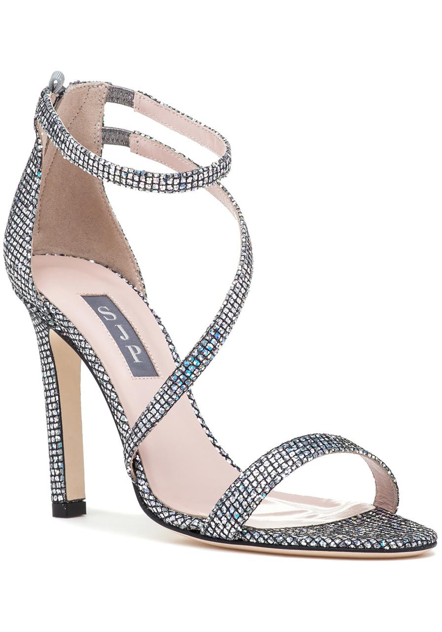9e069d3dd9dda4 Serpentine Evening Sandal Silver - Jildor Shoes